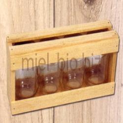 Coffret vide pour 4 pots de 125g de miel bio (sans les pots)