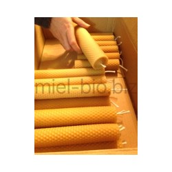 Rolled beeswax candle 50g 13cm