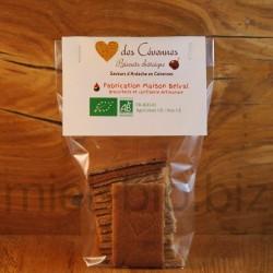 Biscuit Coeur des Cévennes bio à la châtaigne.